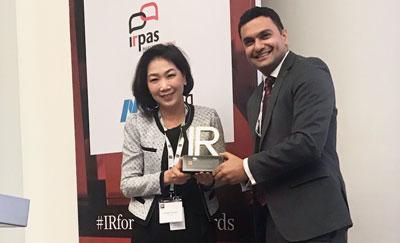 """ซีพี ออลล์ รับรางวัล """"Best Investor Relations Officer (Large Cap) in South East Asia"""""""